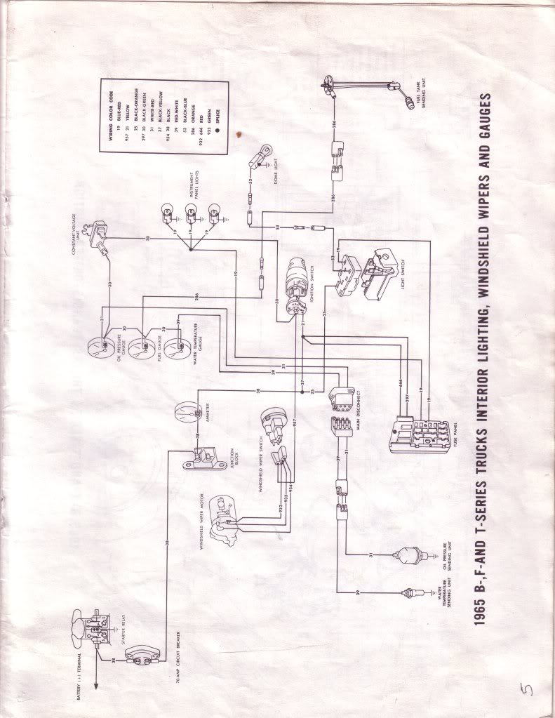 hight resolution of 1965 f100 instrument panel wiring diagram ford truck 1990 ford ranger 1965 ford f100 4x4 flareside