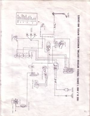 1965 F100 Instrument Panel Wiring Diagram  Ford Truck