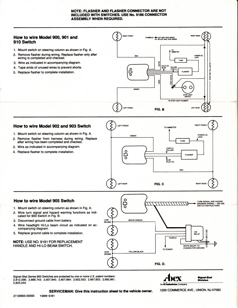 hight resolution of here s some wiring diagrams for signal stat turn signals