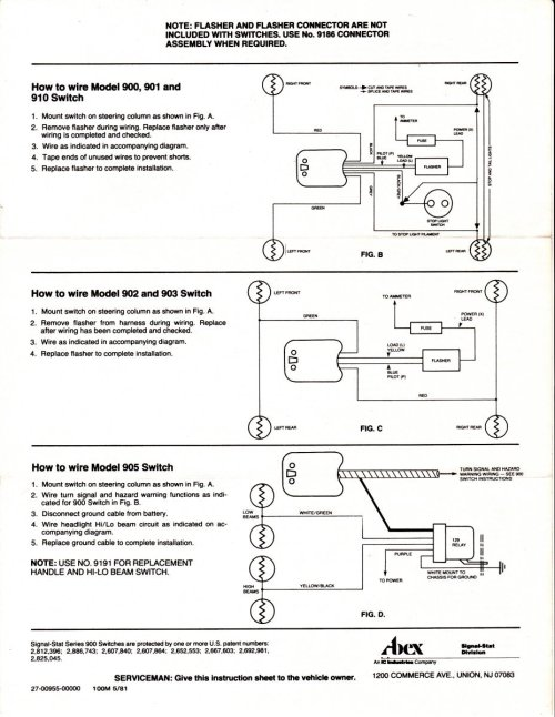 small resolution of here s some wiring diagrams for signal stat turn signals