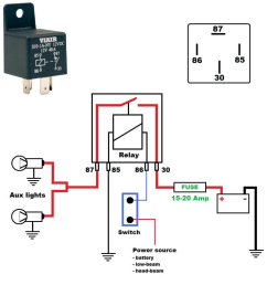 here s a wiring diagram on how to wire aux running lights using a relay  [ 1015 x 1024 Pixel ]