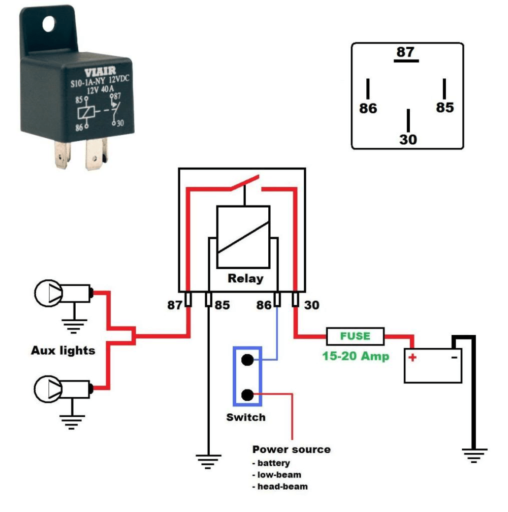 medium resolution of here s a wiring diagram on how to wire aux running lights using a relay