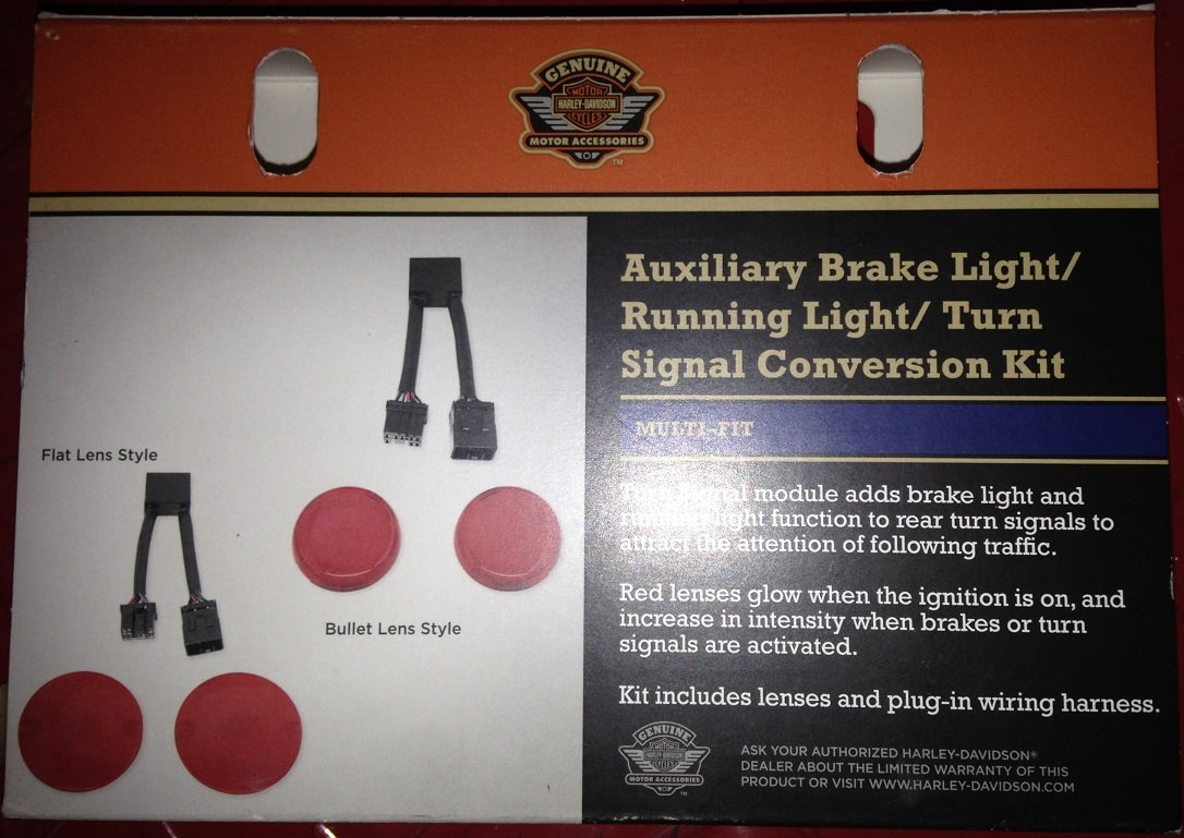 hight resolution of has any one installed hd s auxlilary brake light running light turn signal conversion kit i mean this one