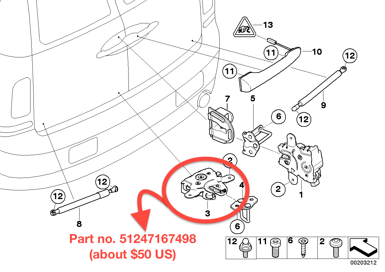R55 How To Replace the Left Barn Door Lock On The 2007
