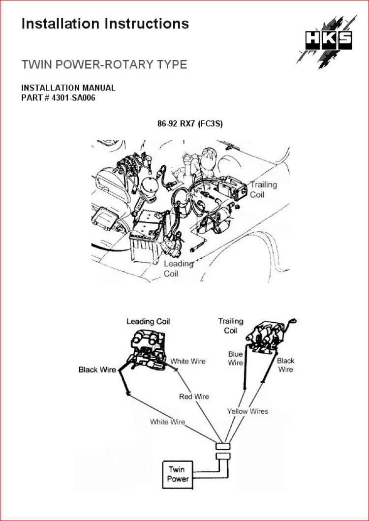 Spark Plug Wire Diagram Rx7