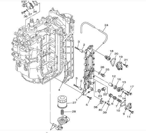 2005 Yamaha F150 fuel cooler water line to broken pressed
