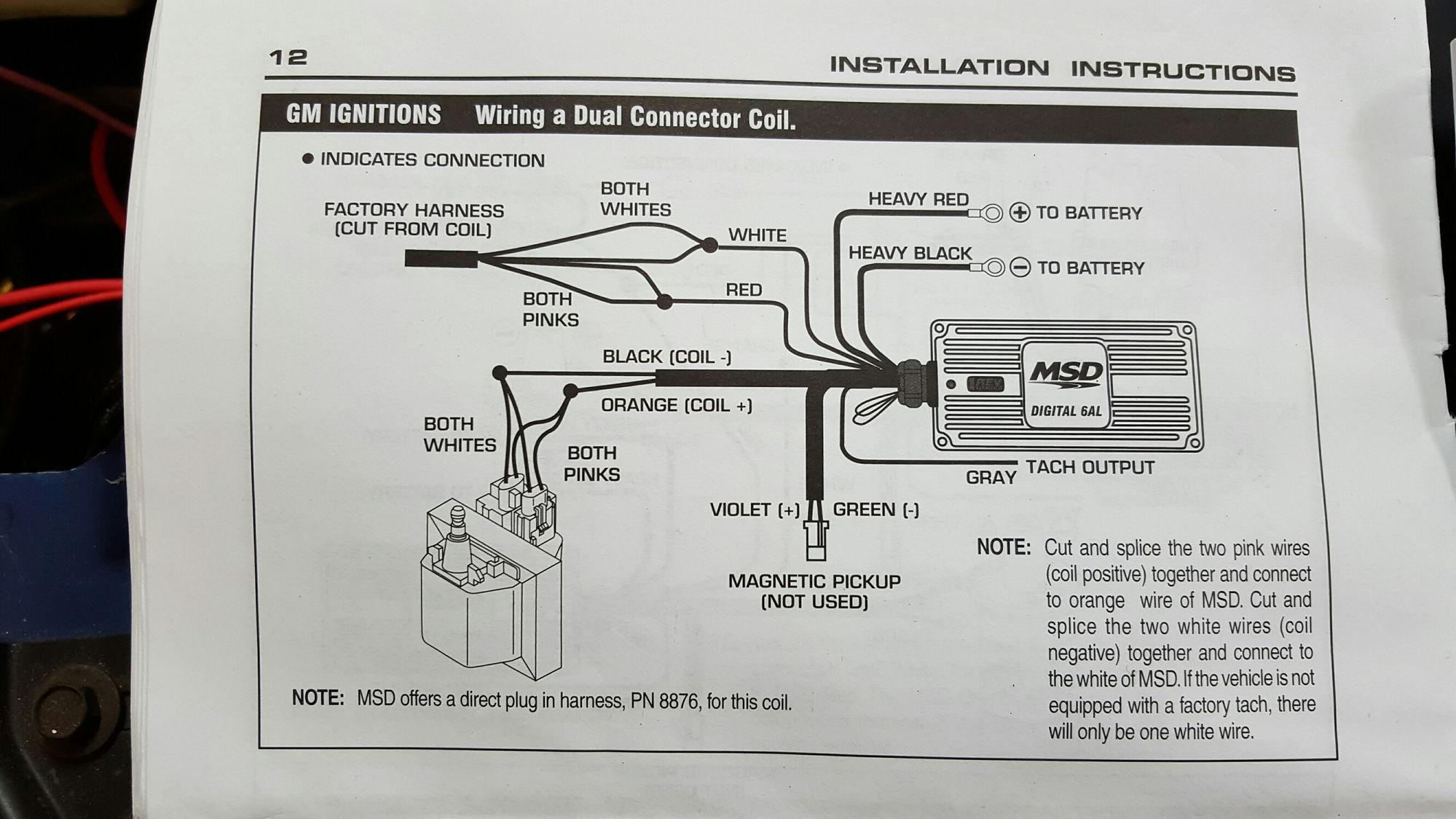 Msd 8982 Gm Hei Wiring Diagram - Free Download Wiring Diagram