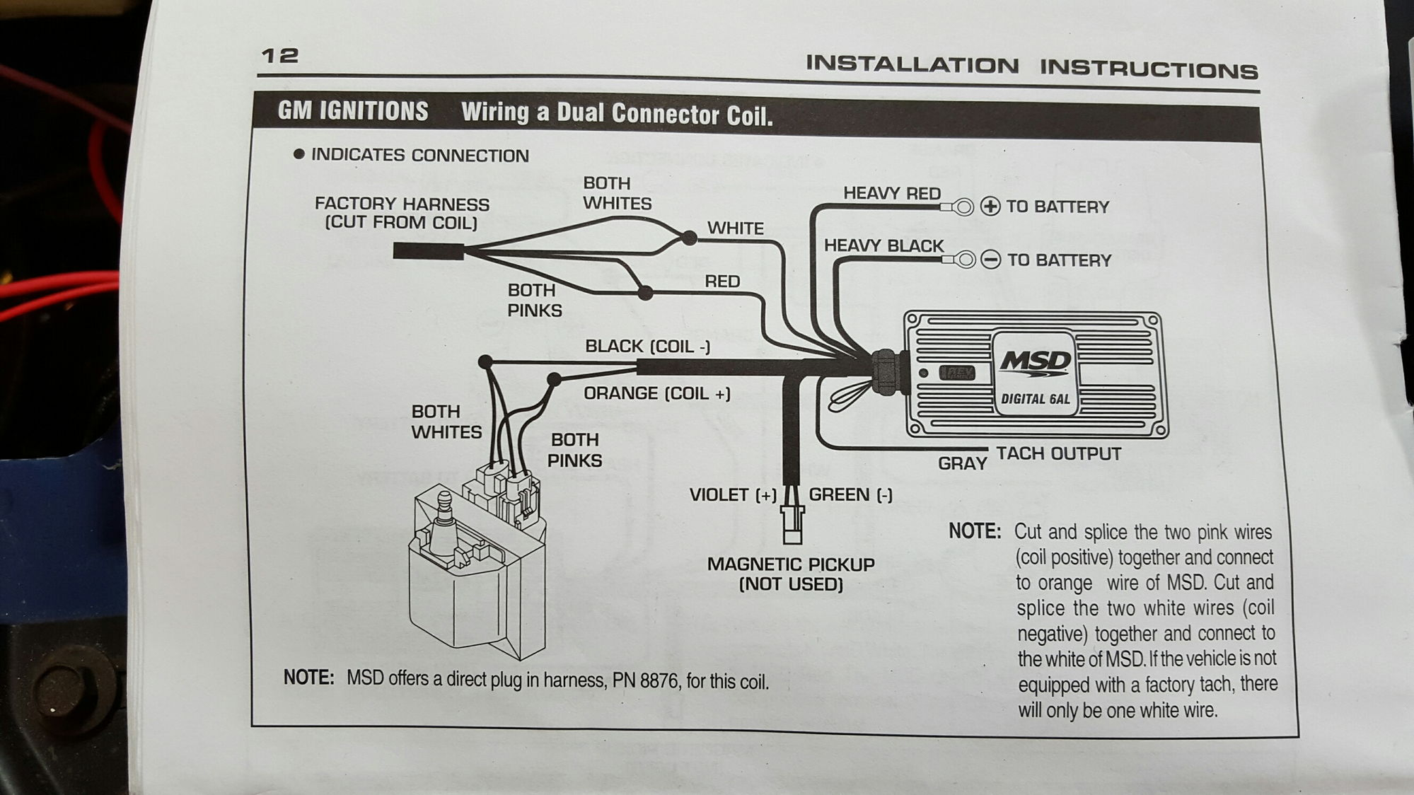 Msd Pick Up Coil Wiring Diagram Will Be A Thing 6al Tach Output 22re Wire 22 Images Box