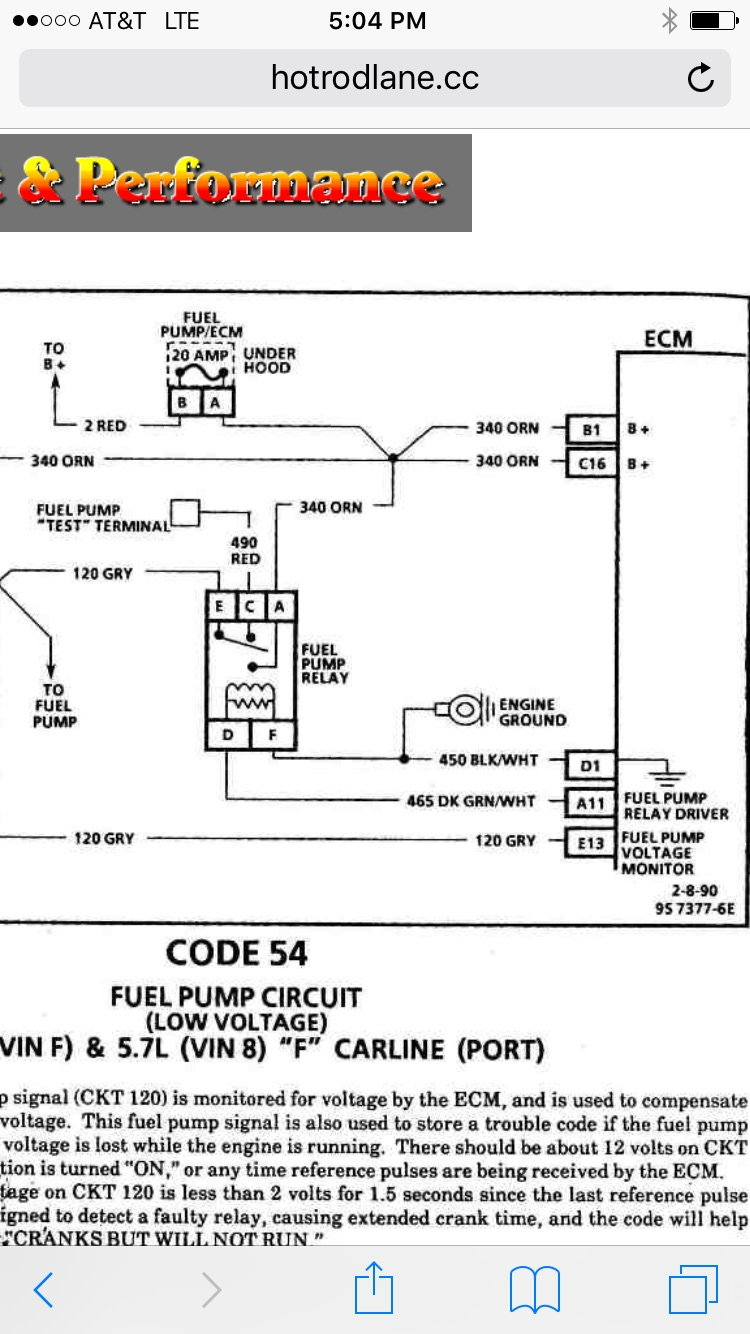 medium resolution of fuel pump and relay questions third generation f body message boards 88 firebird fuel pump wiring diagram