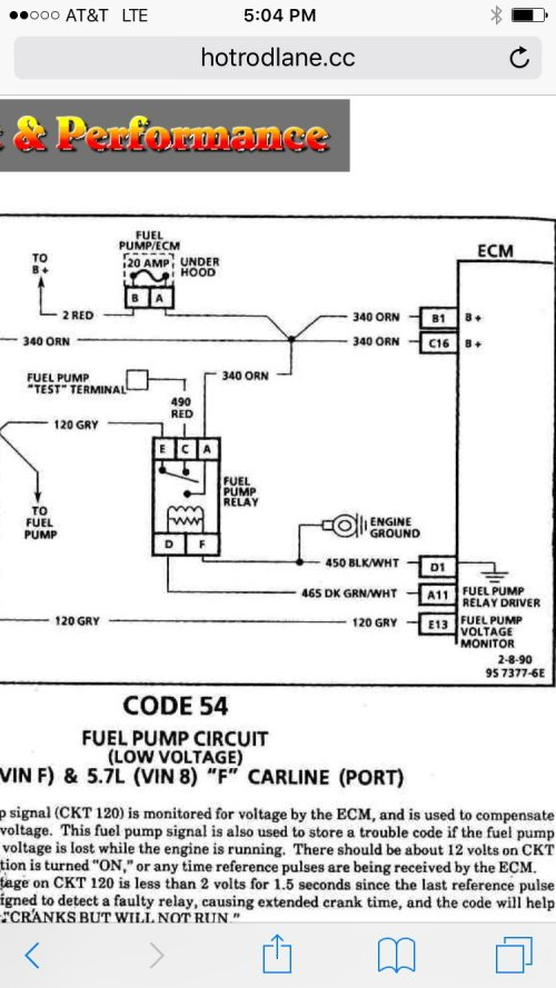 small resolution of fuel pump and relay questions third generation f body message boards 88 firebird fuel pump wiring diagram