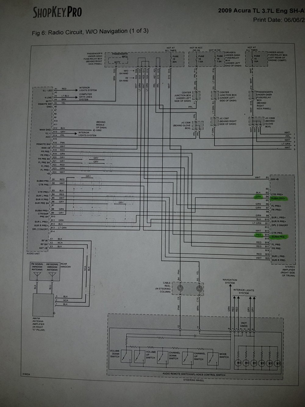 medium resolution of radio wiring diagram 1 for 2009 acura tl sh awd non tech package
