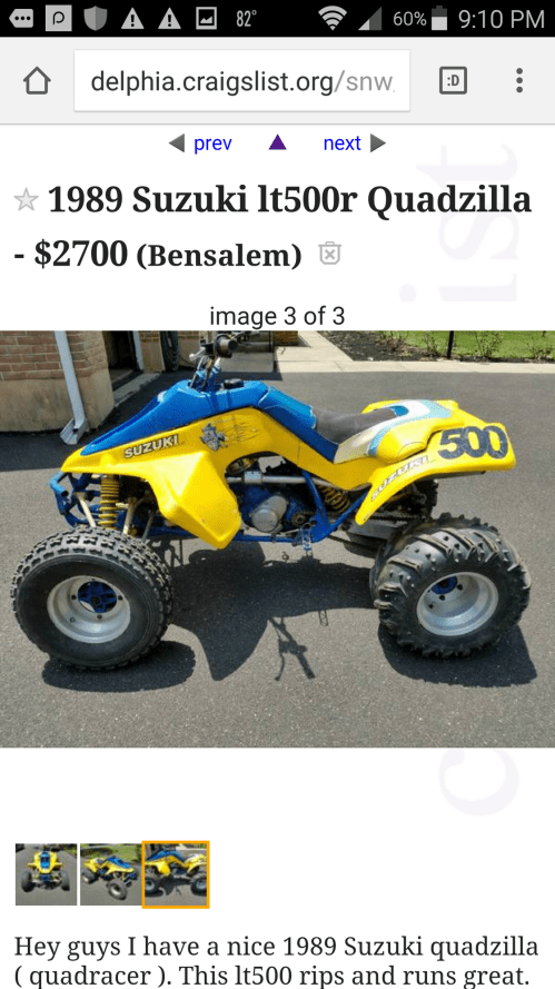 small resolution of  suzuki lt500r quadzilla with a cooling head and aftermarket exausht i do a mix of all riding alot of flat land some trails and some motocross