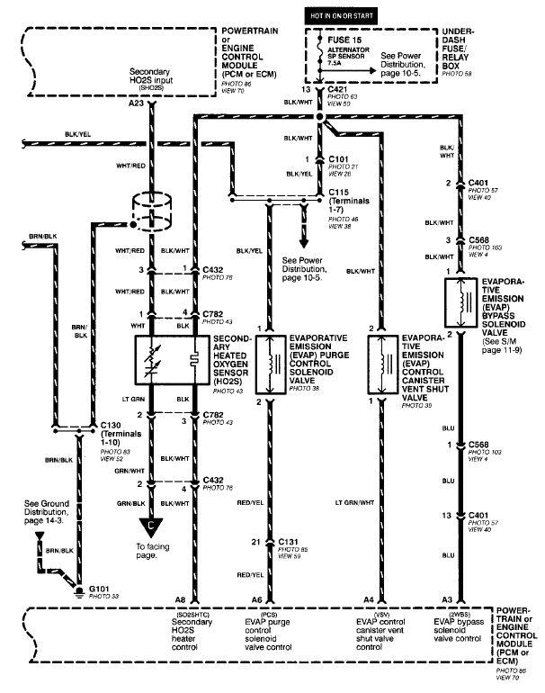 honda odyssey oxygen sensor wiring diagram