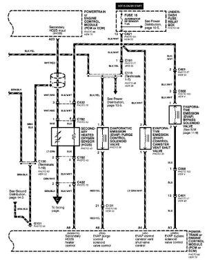 1998 Honda Crv Oxygen Sensor Wiring Diagram  Wiring