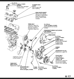 hmmm looking at this engine diagram has me thinking the smoke is not coming from the timing belt if the timing belt was rubbing on anything  [ 946 x 894 Pixel ]