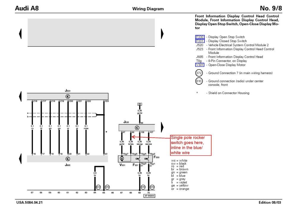 medium resolution of audi a8 mmi wiring diagram