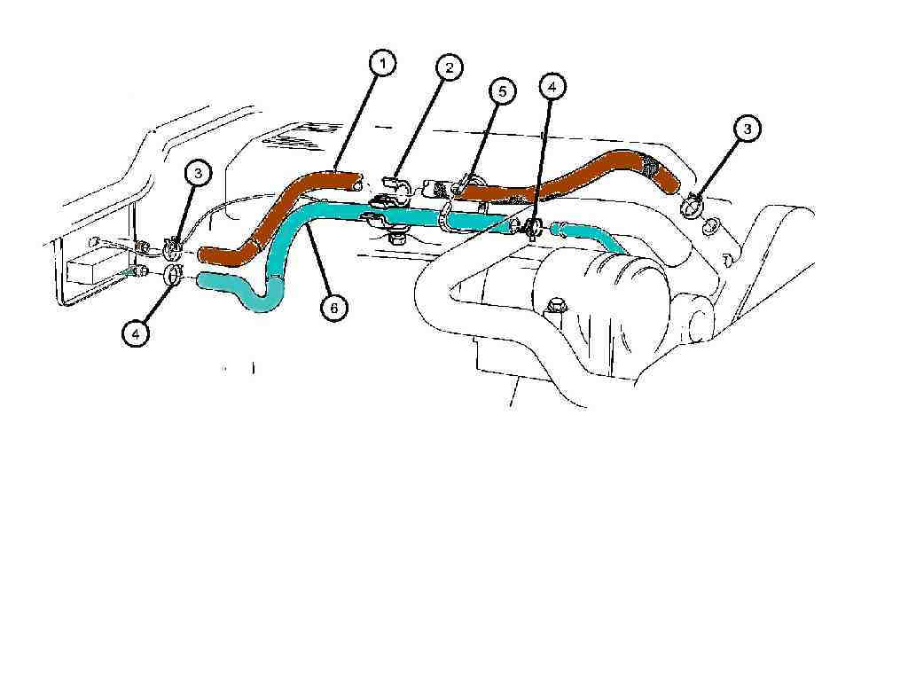 96 jeep cherokee heater hose diagram