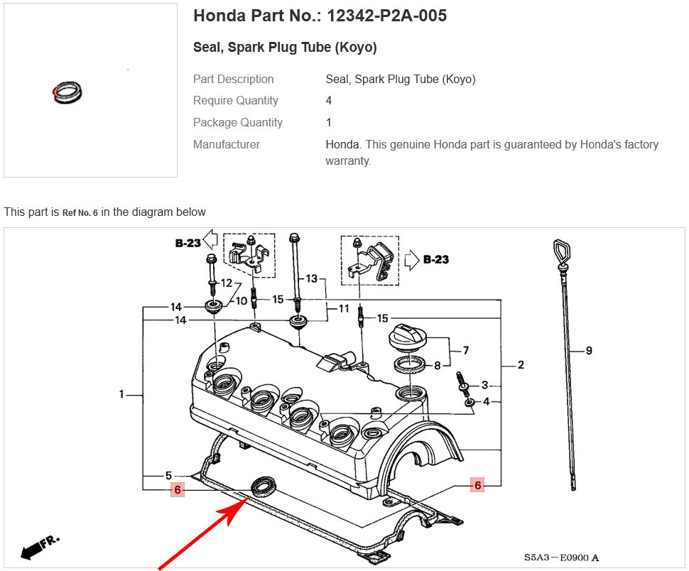 Spark plug tube seals vs. ignition coil seals vs. lower