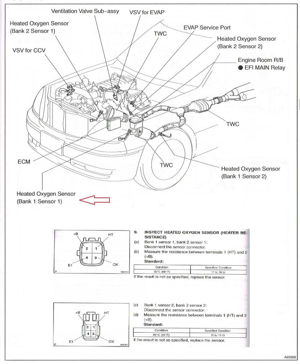 medium resolution of here s the diagram for a 2004 ls430 i believe the locations for the o2 sensors are the same as the 2002
