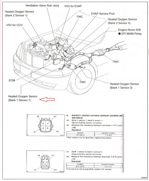 small resolution of here s the diagram for a 2004 ls430 i believe the locations for the o2 sensors are the same as the 2002