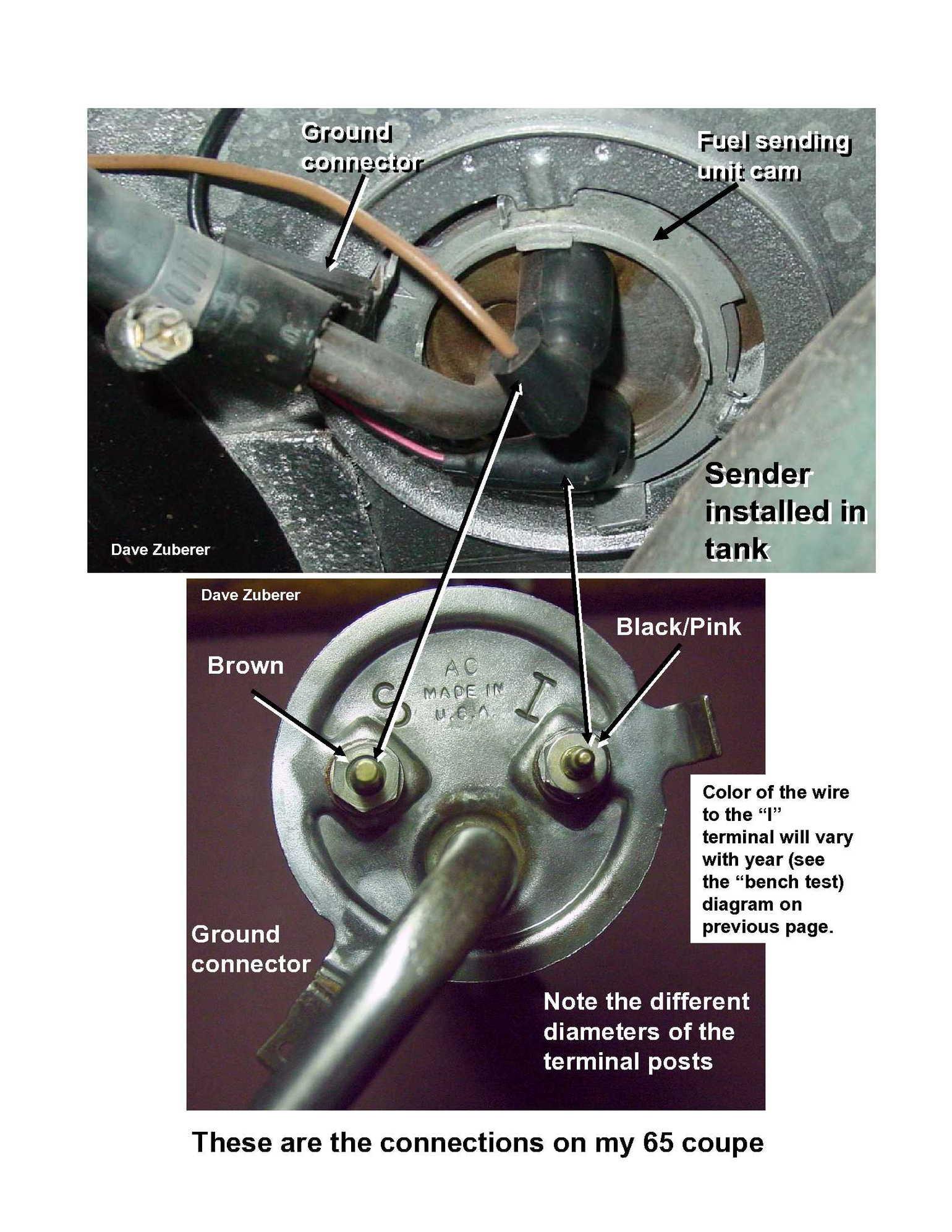 fuel gauge sending unit wiring diagram eye not labeled pump