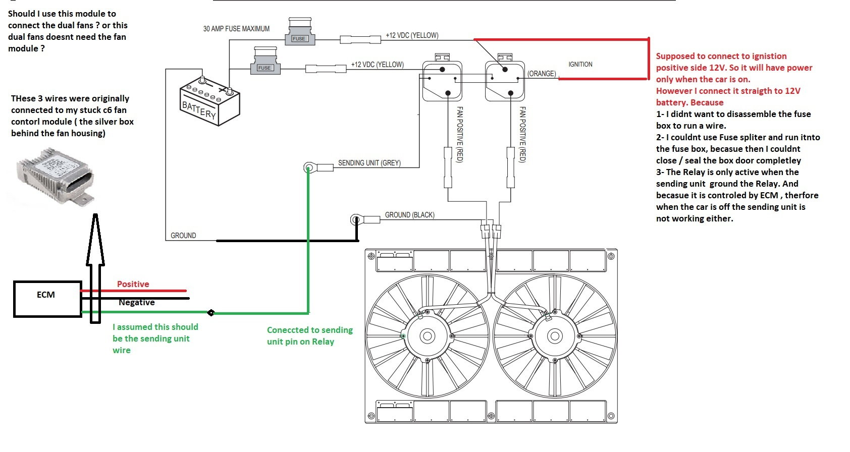 hight resolution of 4 each fan draw 15amp when they start working and each fan has 30 amp fuse