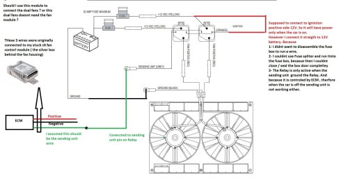 small resolution of 4 each fan draw 15amp when they start working and each fan has 30 amp fuse