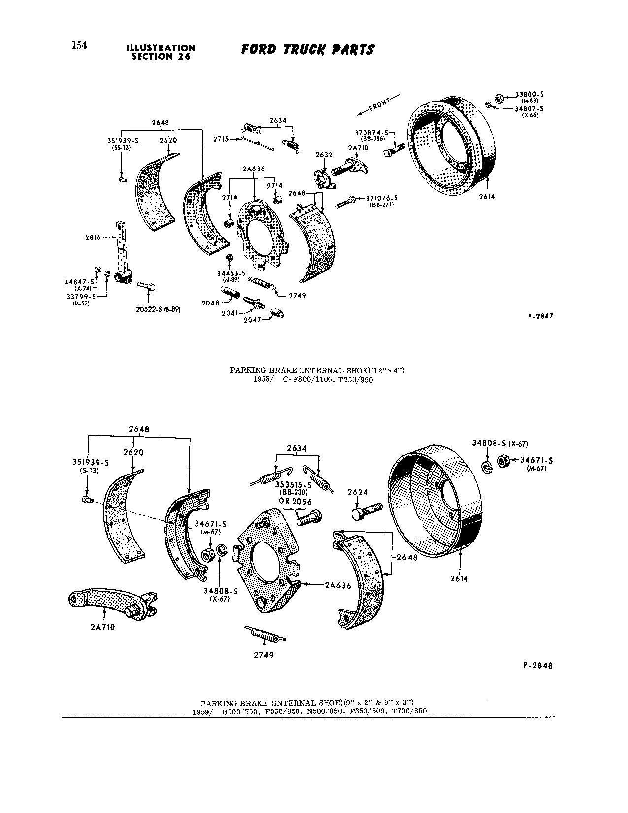 Parts Source > Parking Brake, Driveshaft-Mounted, 1963 F