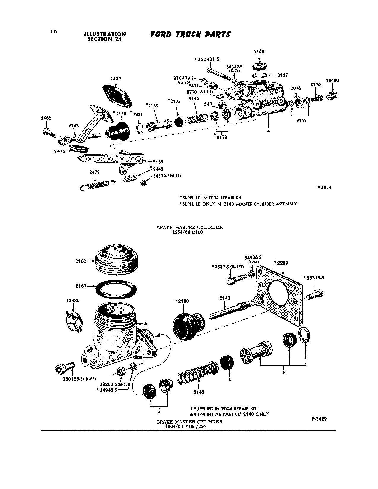 Master Cylinder 66 F100