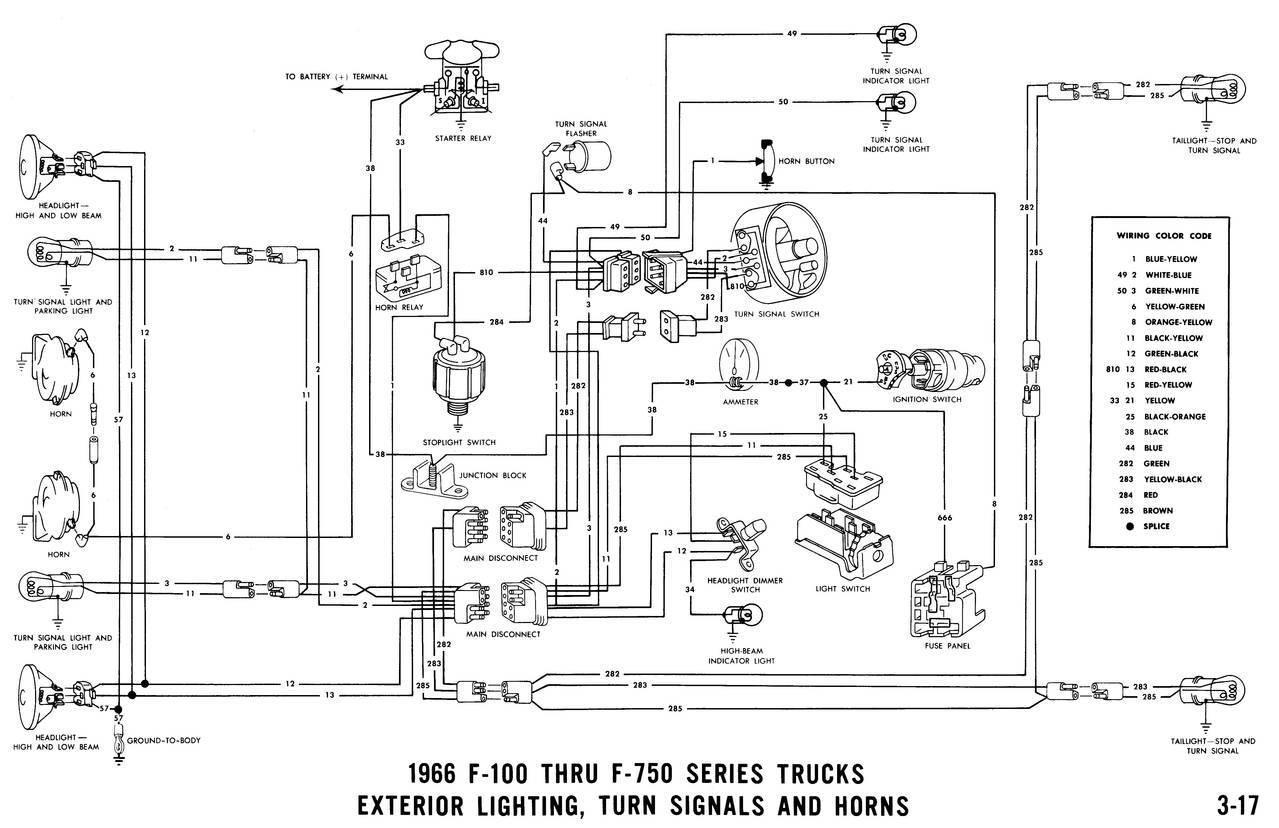 wiring diagram 1966 ford f100