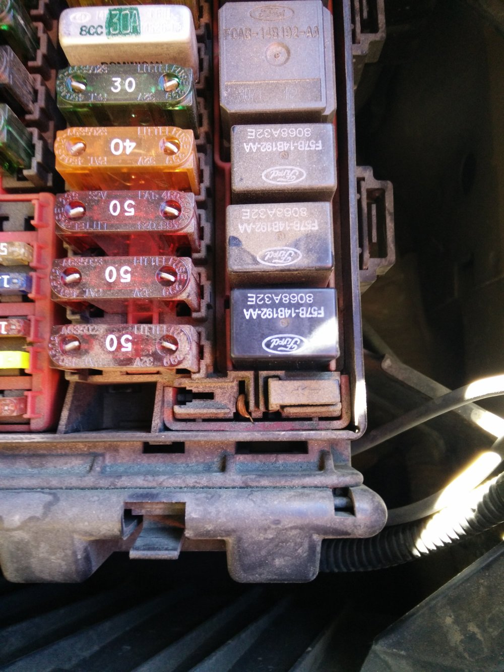medium resolution of this is the missing relay inside the cabin box top left