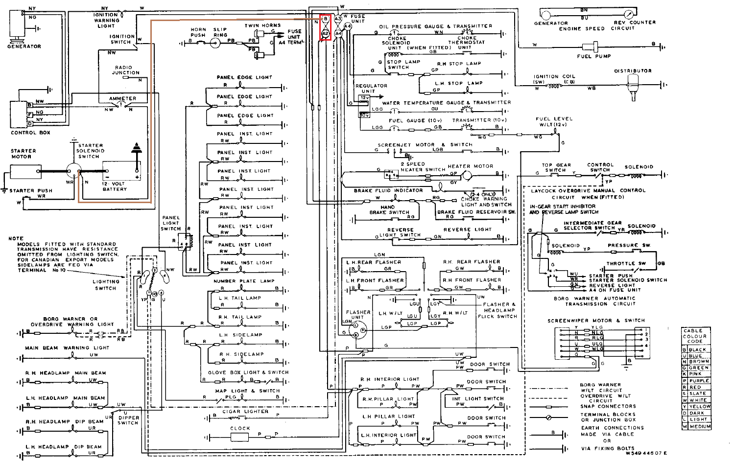 Jaguar 340 Wiring Diagram
