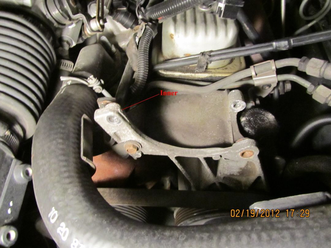 hight resolution of remove cs 130 alternator and braces to intake manifold and exhaust manifold