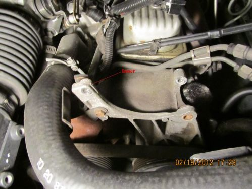 small resolution of remove cs 130 alternator and braces to intake manifold and exhaust manifold