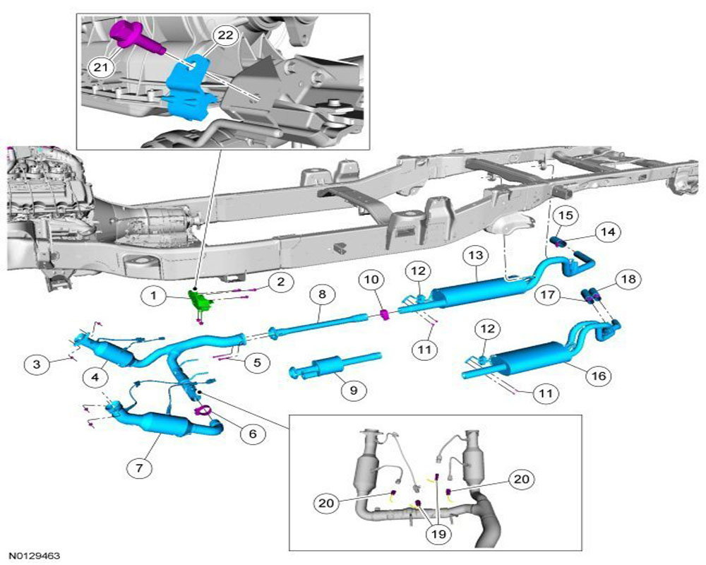 hight resolution of step 2 locate the catalytic converter on an f 150