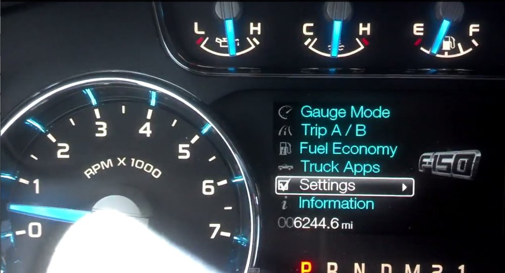 medium resolution of step 2 access the setup menu for 2004 2010 ford trucks