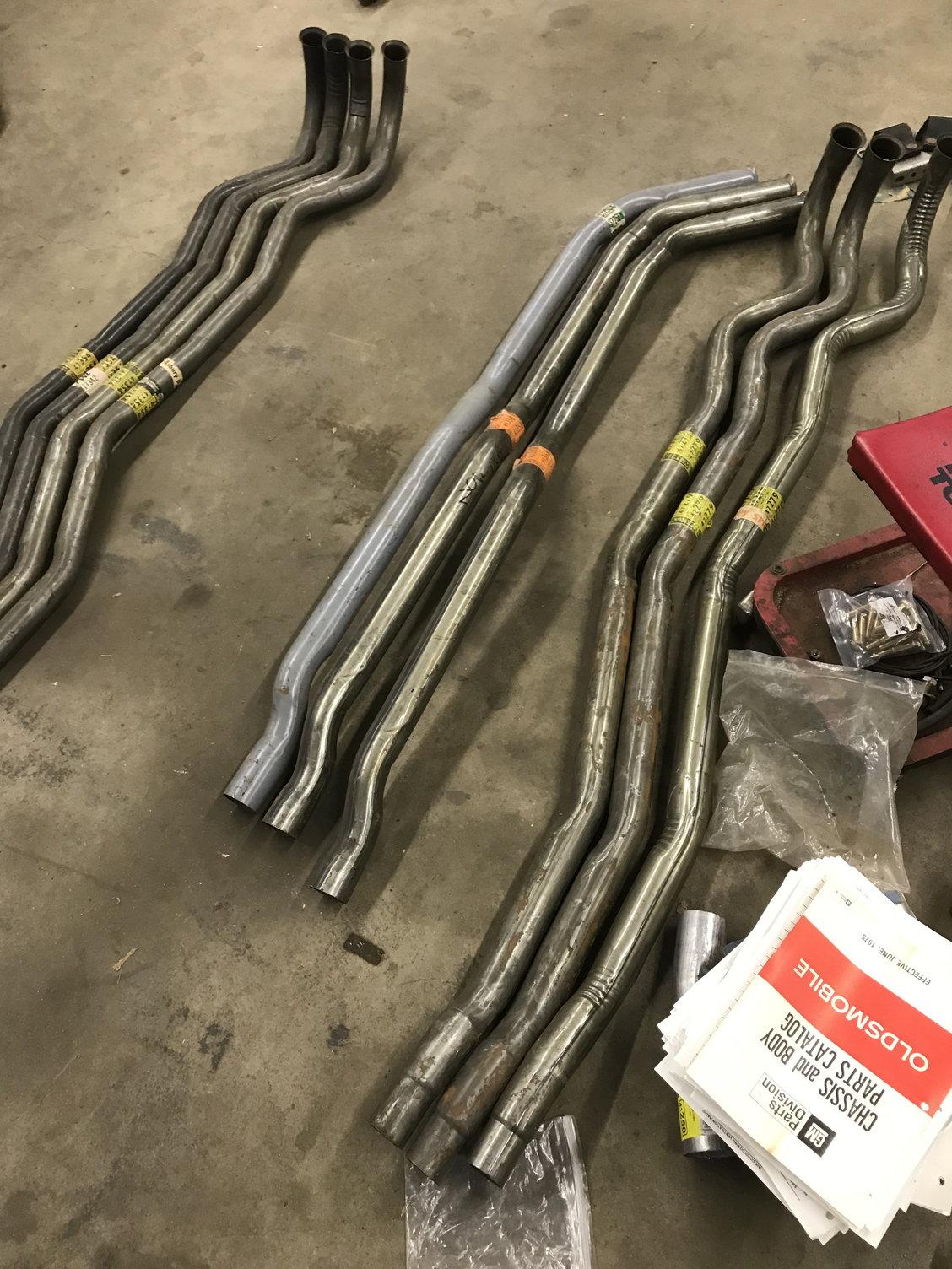 walker exhaust pipes 1968 72 cutlass 50