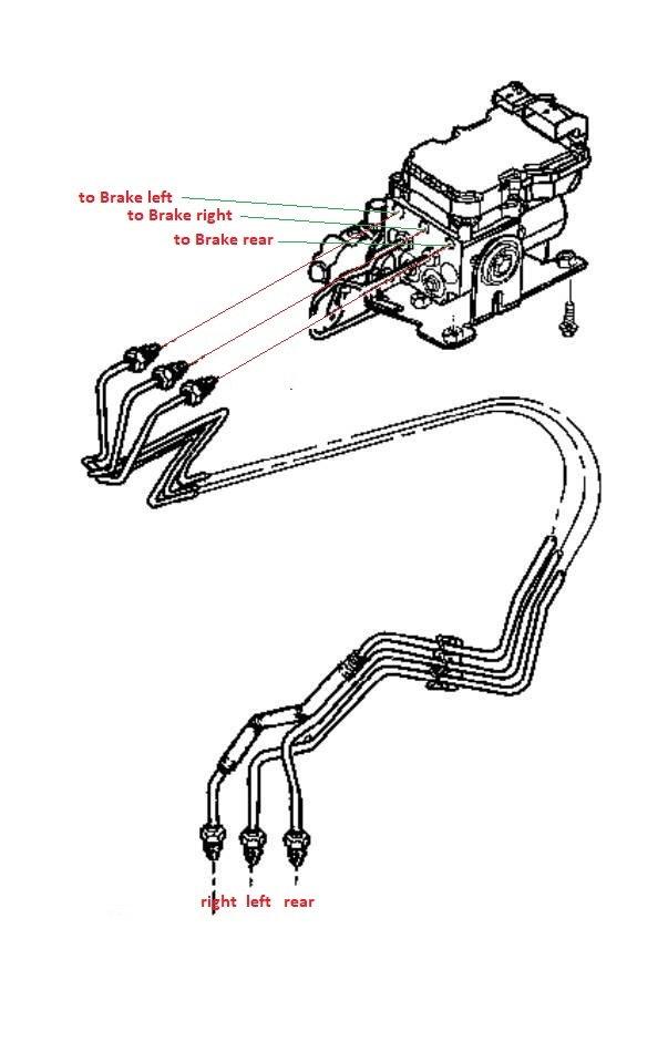 1998 Dodge Durango-Dakota question connections to Brake