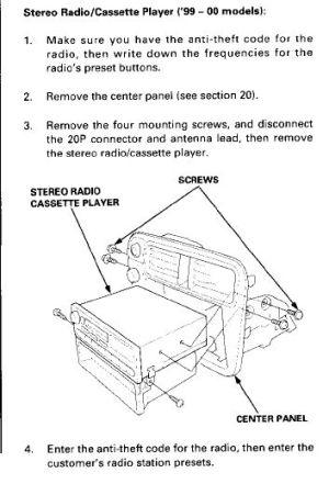 9900 Civic OEM radio wiring diagram  HondaTech