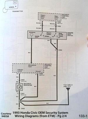 92 Accord EX security system wiring diagram needed ASAP