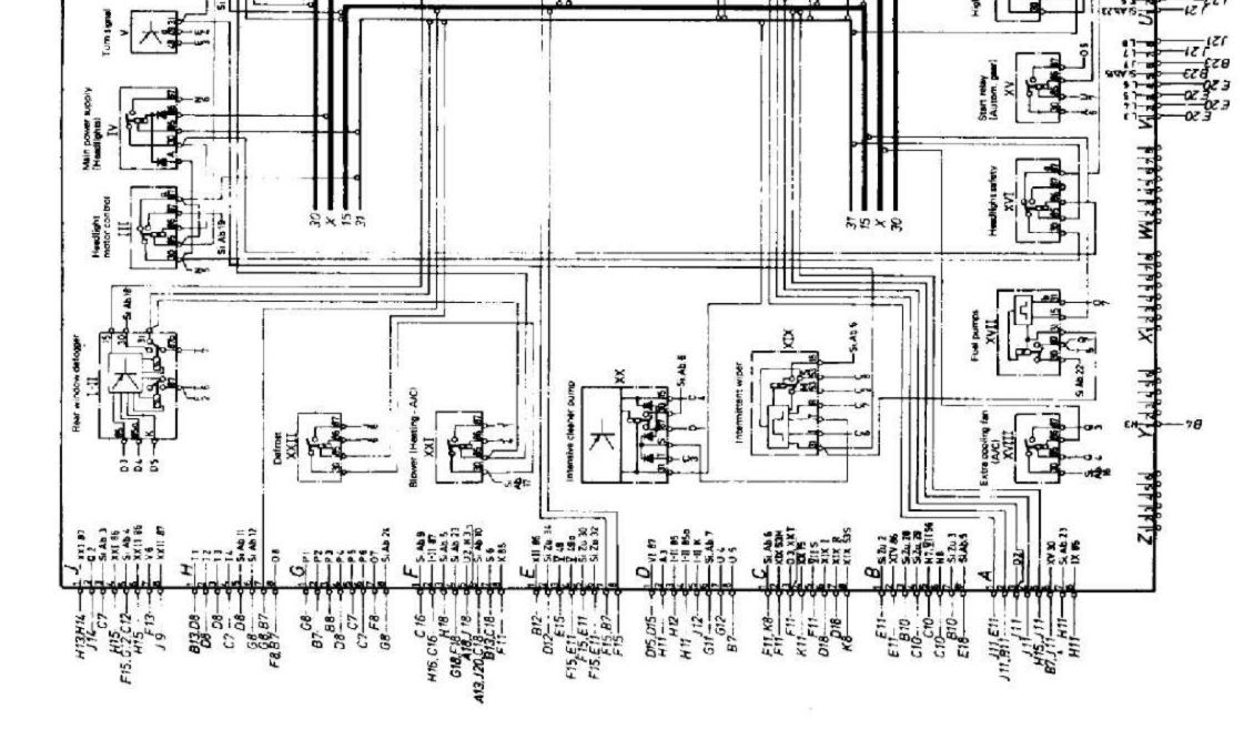 wiring diagram-central fuse/relay board 1978 porsche 928
