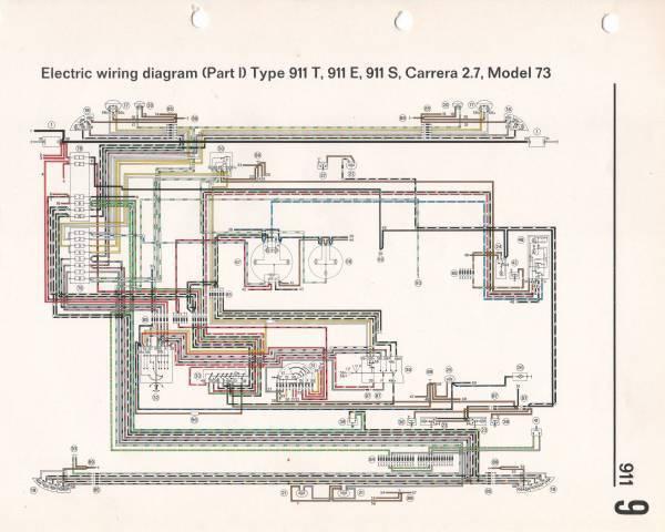 1973 911T Wiring Diagrams