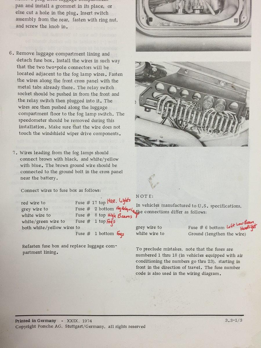 hight resolution of 1982 911 sc fog light wiring rennlist porsche discussion forums porsche fog lights wiring diagram