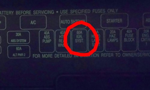 small resolution of 60 amp blown fuse