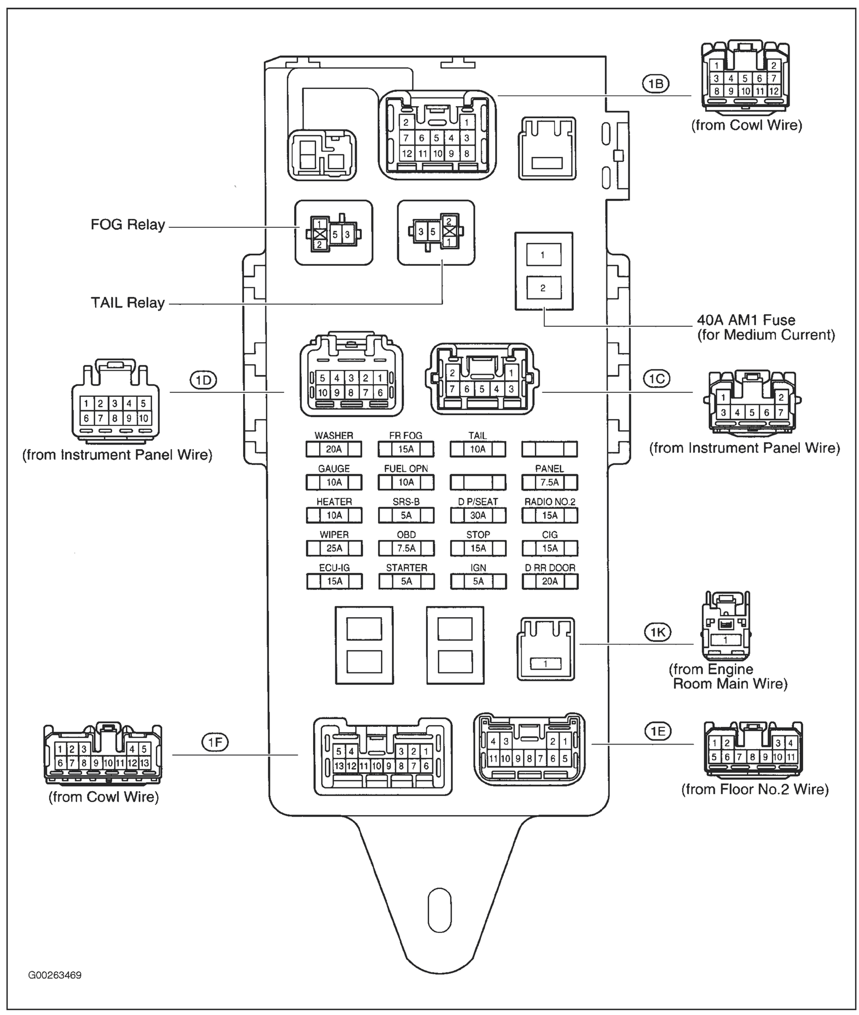 lexus rx400h fuse box diagram