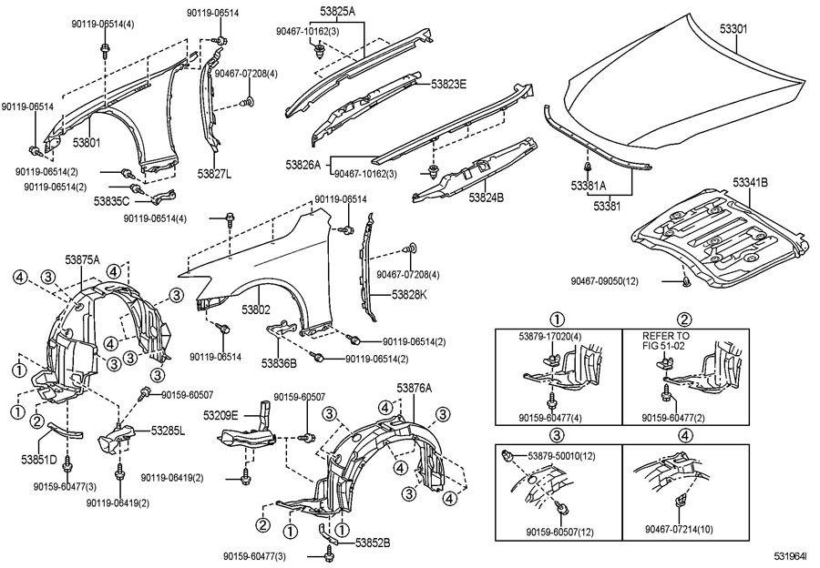 2006 Lexus Is250 Parts Diagram