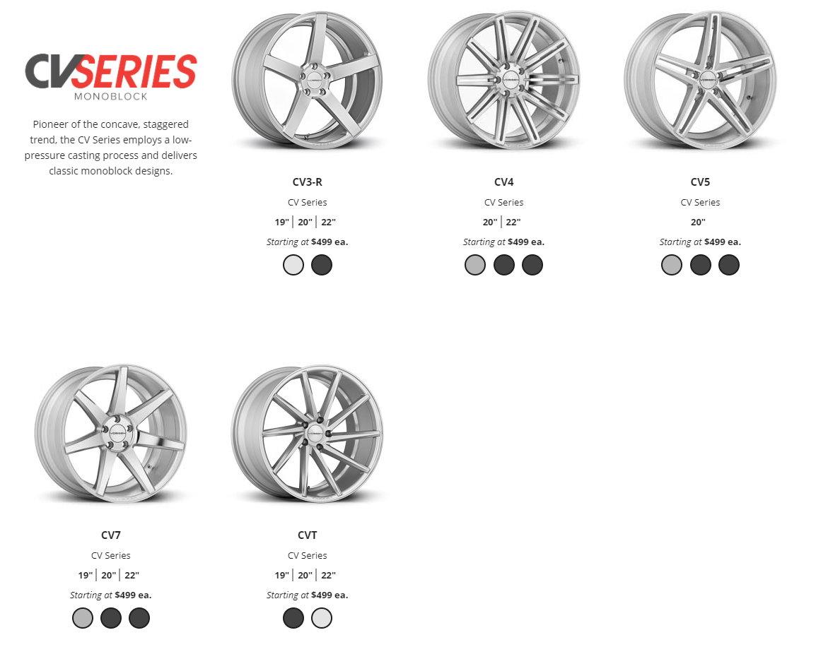 New Service Vossen Wheels Cv Vfs Lc Cg Vps Hc Vws Ml R
