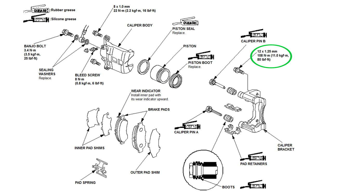 hight resolution of brake caliper mounting bracket bolt torque spec