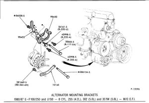 1984 F150 XLT 58L HO (351W) belt routing  Ford Truck