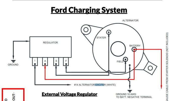 ford external voltage regulator wiring diagram  wiring